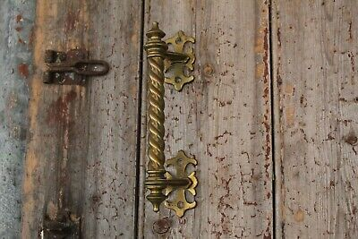 Superb Antique Solid Brass Reclaimed Arts and Crafts Victorian Door Pull Handle