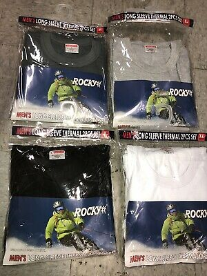 Rocky Mens Long Sleeve Thermal 2 Pc Set ALL SIZES ALL COLORS Cotton Blend !!
