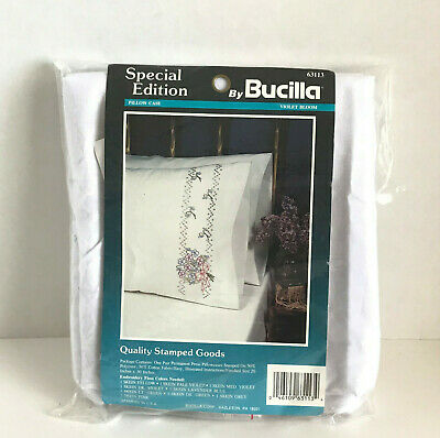 Special Edition by Bucilla Violet Bloom Embroidery Pillow Case 63113