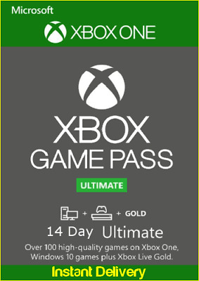 Xbox Live 14 Day Gold & Game Pass Ultimate Digital Code - Instant Email Delivery