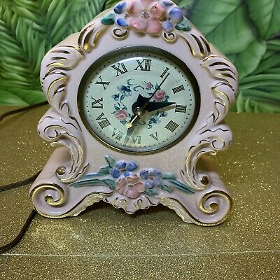 Antique ~ Porcelain ~ Mantel / Shelf Clock ~ Movement Made By Sessions.