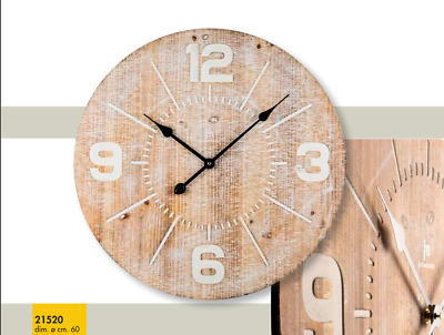 Wall Clock Case Wooden a Quartz Diameter 60CM Lowell