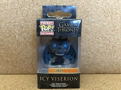 Funko Pocket Pop! Keychain: Game of Thrones - Icy Viserion (Box Lunch Exclusive)