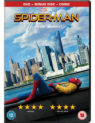 Spiderman Homecoming (Tom Holland) 2 Disc Edition With Comic DVD New & Sealed