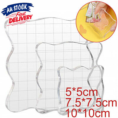 Clear Block Transparent Scale Acrylic Pad Essential Stamp Scrapbooking Tools