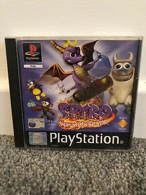 Spyro Year of the Dragon - PS1 Sony Playstation One Game - Complete Black Label