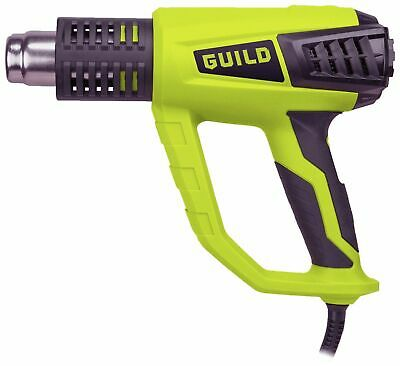 GUILD 2000W Hot Air Heat Gun 3 Temperature Paint Stripper DIY Tool + 4 Nozzle UK