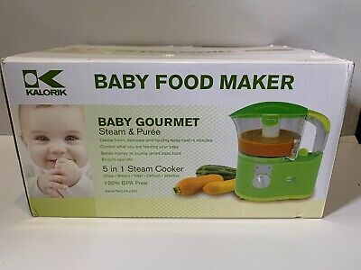 New Kalorik baby Gourmet Organic food maker Chop Steam and Puree electric