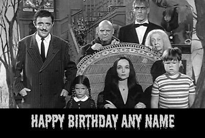 The Addams Family Personalised Birthday Card