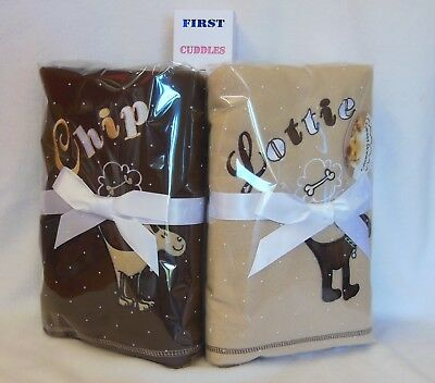 Personalised  Dog Blanket  With Your Dogs Name.  Puppy Blanket.