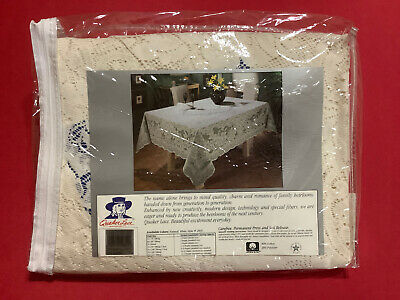 """QUAKER  LACE ... 70""""  Round  Lace  Tablecloth ... NEW"""