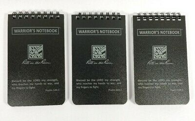 "3 X Rite in the Rain 735 3""x 5"" Top Black All-Weather Warrior's Notebook Custom"
