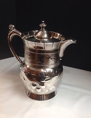 Antique ROGER SMITH & Co. Quadruple Silver-plate Pitcher