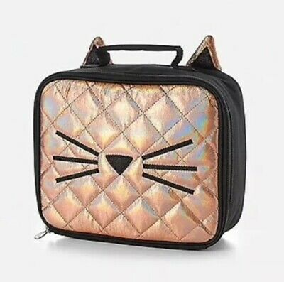 "Justice Initial /""S/"" Gold CAT Quilted Backpack+Lunch Tote Set-NWT-Simply Elegant!"