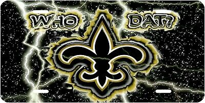 New Orleans Saints Who Dat Car Novelty Vanity License Plate