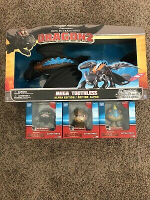 How To Train Your Dragon Mega Toothless Spinmaster Loyal Subjects Set Of 3