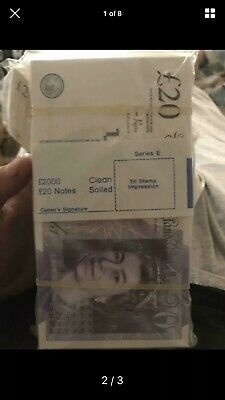100 x £20 Pound Note Party,Realistic MONEY DOUBLE SIDED ACTUAL fake PROP ONLY