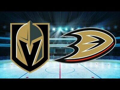 *(2)Tickets Sec 209 Row B Vegas Golden Knights VS Anaheim Ducks 12/31/19*NYE