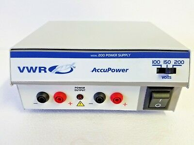 VWR Accupower 200 Electrophoresis D.C. Power Supply w/ Power Cord
