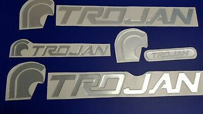 "Trojan boat Emblem 28"" chrome + FREE FAST delivery DHL express - raised decal"