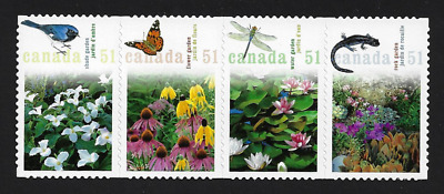 Canada Stamps — Die Cut Strip of 4 — 2006, Gardens Flowers #2145i — MNH