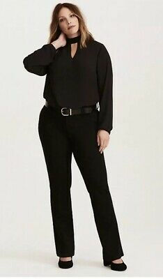 TORRID The Noir Collection Black All Nighter Ponte Trouser Sz 16 Tall