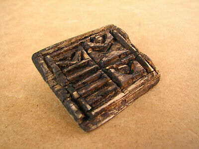 Old Antique Primitive Wooden Wood Stamp for Ritual Bread Orthodox Christian 20th