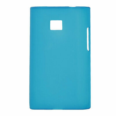 Cyan Smooth Surface Protective Guard Cover for LG E400/E405 Optimus L3
