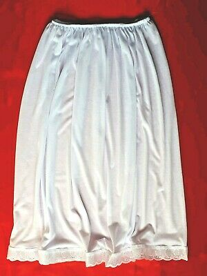 BLACK/ WHITE Half Slips UK size 6-20 Petticoats Cotton Rich Underskirts lingerie