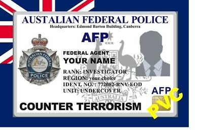 Australia ID COLLECTOR CARDS << FEDERAL POLICE>>