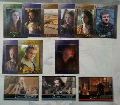 2015 Game of Thrones Season Four Trading Card Lot