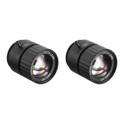 2pcs 25mm 3MP F1.4 FPV CCTV Lens Wide Angle for CCD Camera