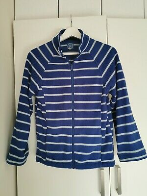 Joules Unisex Boys Or Girls Blue And White Stripe Fleece Size 11-12 Years