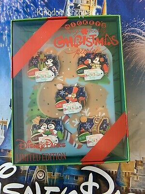 2019 Disney World Mickey's Very Merry Christmas Party Disney Pin Box Set LE 500