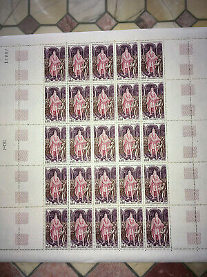 Timbres/stamp France Feuille complète Sheet du N° 1497 x 25 Neuf ** Luxe MNH