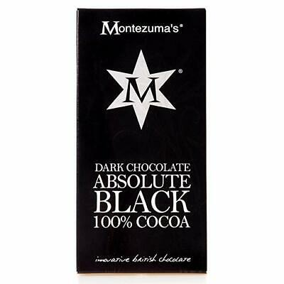 MONTEZUMA'S | Absolute Black 100% Cocoa Chocolate 90g (12 Pack) | FREE DELIVERY