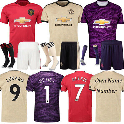2020 Football Jersey Soccer Kits Kids Short Sleeve Team Club Outfits+Socks
