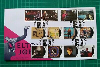 2019 MUSIC GIANTS ELTON JOHN ALBUM COVERS AND LIVE FDC Elton Road Newnham