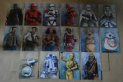 Topps Journey to STAR WARS THE RISE OF SKYWALKER = ILLUSTRATED CHARACTER #IC