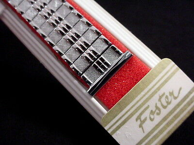 Vintage NOS Foster Flashy Stretchy Stainless Short watch band 19mm 3/4 inch