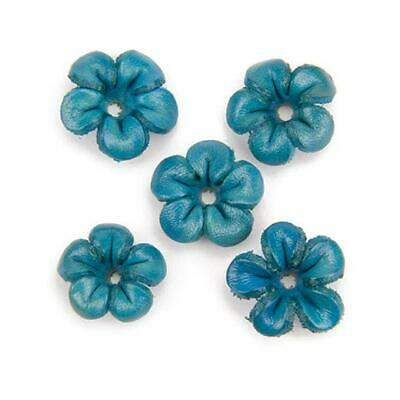 Hobby & Crafting Fun Real Leather Flowers - 20mm 5pcs