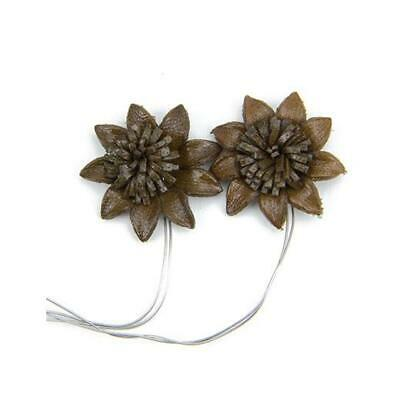 Hobby & Crafting Fun Real Leather Flowers - 25mm 2pcs