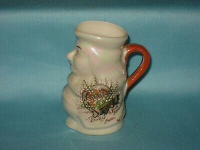 Carlton China Toby Jug, Pearl Lustre Glaze - Lucky White Heather From Southsea