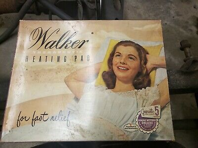 Vintage Walker Therapeutic Heating Pad For Fast Reflief In Box