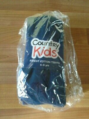 Country Kids navy tights school 6-8 years BNWT