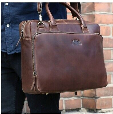 SIT & VAIN Laptop Business Notebook Leder Tasche