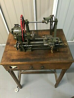 Clockmakers or Watchmakers Lathe Chucks Drilling Tailstock + Tools