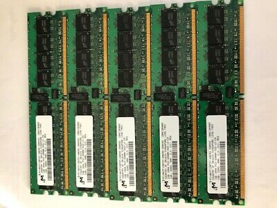Micron MT18HTF25672Y-40EE1 2GB PC2-3200R DDR2 Single Rank 1Rx4 ECC REG DIMM