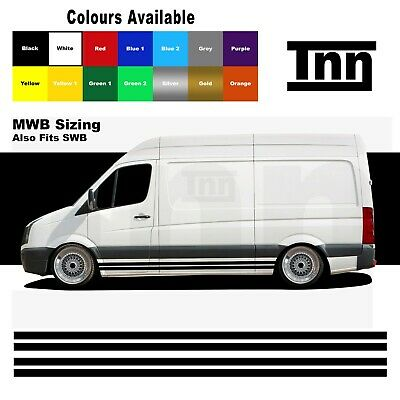 Side Stickers Stripes Graphics Vinyl Decals For Volkswagen VW Crafter SWB MWB