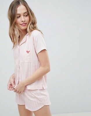 Ladies Ex ASOS Pyjama Set PJS Warm Nightwear Lounge Boux Avenue Gift Twosie
